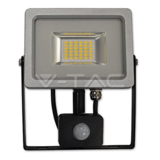 20W LED Прожектор Сензор SMD Черно/Сиво Тяло 4500K