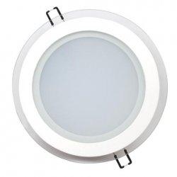 LED Луна 15W 220V кръг 6400K бяла стъклена 1150Lm
