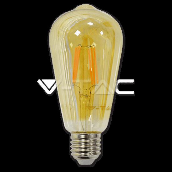LED Крушка 6W E27 Filament Amber ST64 2200K