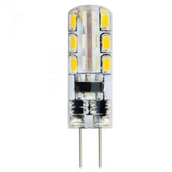 LED крушка 1.5W G4 6400K 12V SMD силиконова