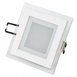 LED Луна 6W 220V квадрат 6400K бяла стъклена 480Lm