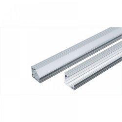 Алуминиев профил за LED лента 24.7x7мм 2м с матиран разсейвател, капачки и държачи