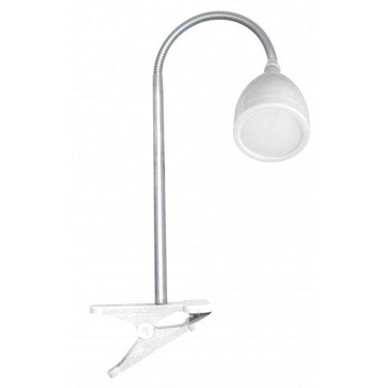 LED настолна лампа с щипка MACAU 4W/8LED 4000K бяла