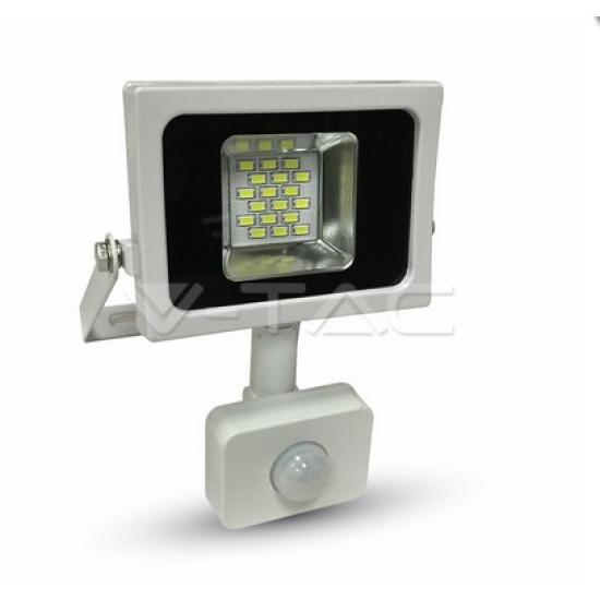 LED Прожектор Сензор Бяло Тяло 10W 3000K