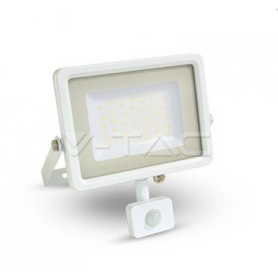 LED Прожектор Сензор Бяло Тяло 50W 3000K