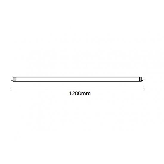 LED пура Т8 18W 6500K 1800Lm IP20 120см едностранно захранване