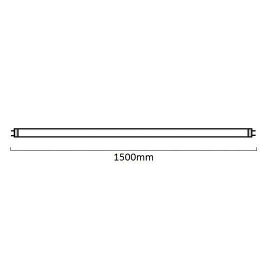 LED пура Т8 26W 4000K 2400Lm IP20 150см едностранно захранване