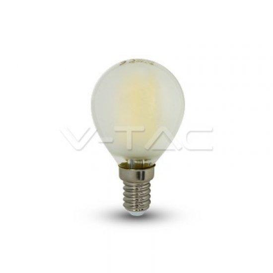 LED Крушка 4W Filament E14 P45 6400K Мат