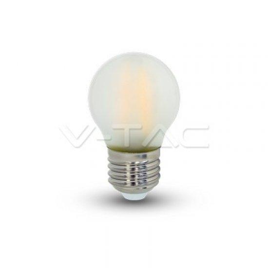 LED Крушка 4W Filament E27 G45 6400K Мат