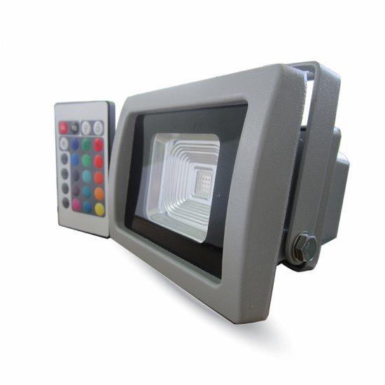LED Прожектор SMD 10W RGB С Дистанционно IR IP65