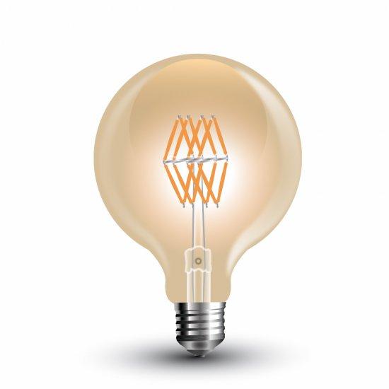 LED Крушка 8W Filament Amber E27 G95 2200K