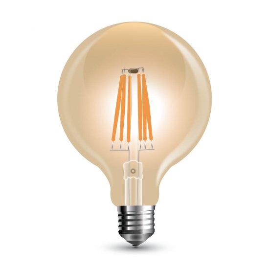 LED Крушка 8W Filament Amber E27 G125 2200K Димируема