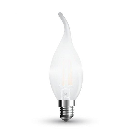LED Крушка 4W Filament E14 Свещ Пламък 2700K Мат Димируема