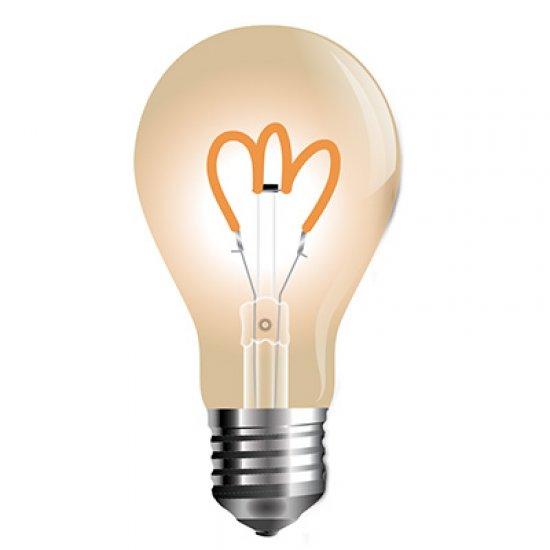 LED Крушка 3W Filament E27 A60 2200K Златно Стъкло
