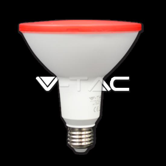 LED Крушка 15W PAR38 E27 Червена IP65