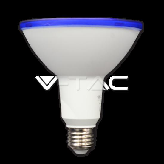 LED крушка PAR38 E27 VT-1125-G 15W синя 1200Lm IP65