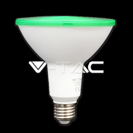 LED Крушка 15W PAR38 E27 Зелена IP65