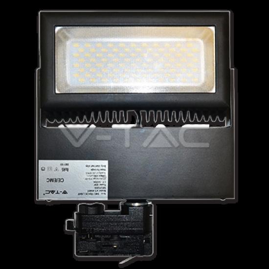 LED Прожектор Релсов Монтаж 48W 5000K Черен Корпус