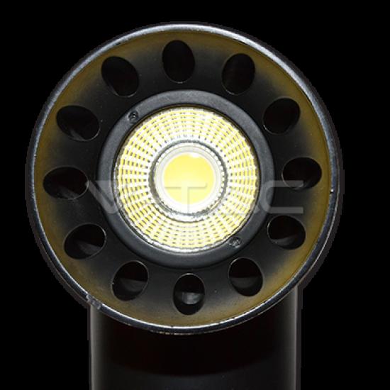 LED Прожектор Релсов Монтаж 23W Черно Тяло Кръг 5000K