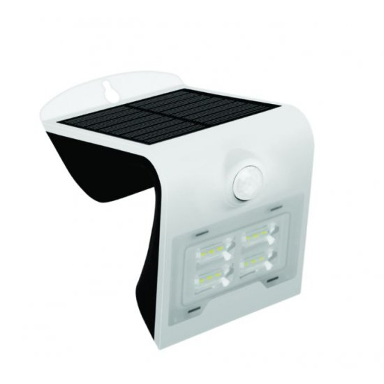 LED Соларен Аплик със сензор 2W 3000K+6000K