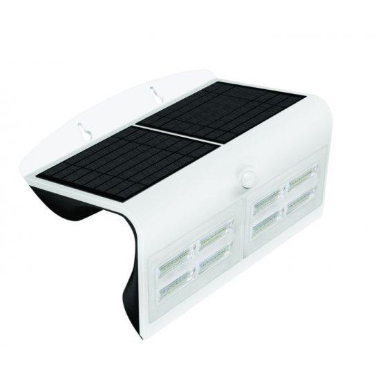 LED Соларен Аплик със сензор 6.8W 3000K+6000K