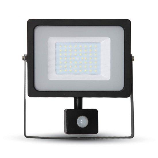 50W LED Прожектор Сензор SMD Черно Тяло 3000K