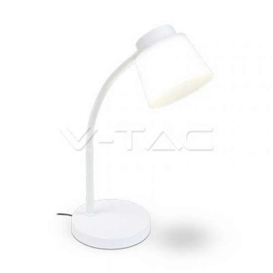 5W LED Настолна Лампа 4000K Бяло Тяло