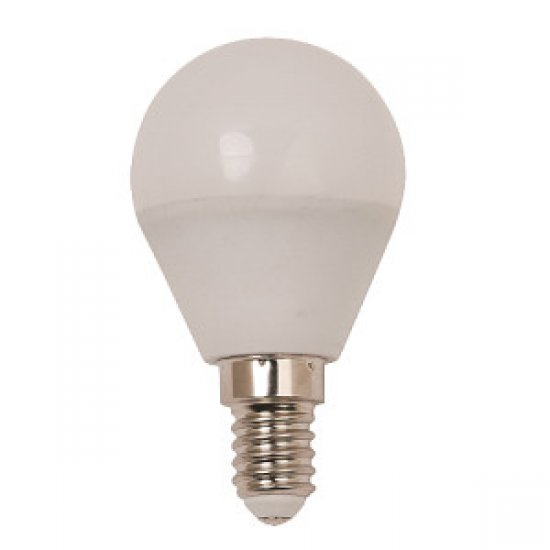 LED крушка 6W E14 3000K 480Lm P45 сфера