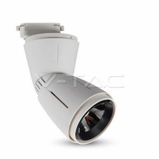 45W LED Прожектор Релсов Монтаж Бяло Тяло 3000K
