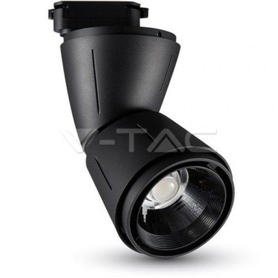 45W LED Прожектор Релсов Монтаж Черно Тяло 3000K