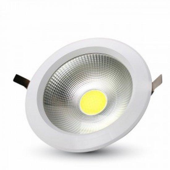 30W LED Луна COB Кръгла 3000К Бялa 120Lm/W