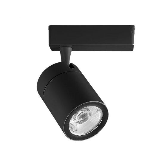 35W LED Прожектор Релсов Монтаж Черно Тяло 6000K