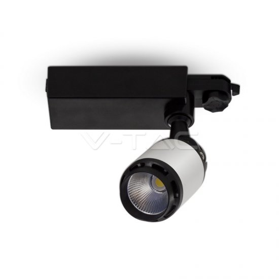 10W LED Прожектор Релсов Монтаж Черно/Бяло Тяло 3000K