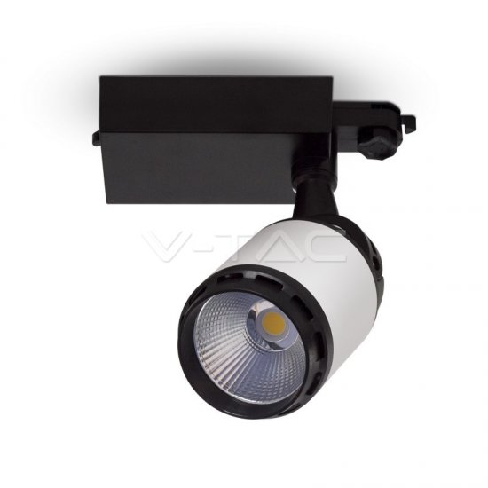 35W LED Прожектор Релсов Монтаж Черно/Бяло Тяло 6400K