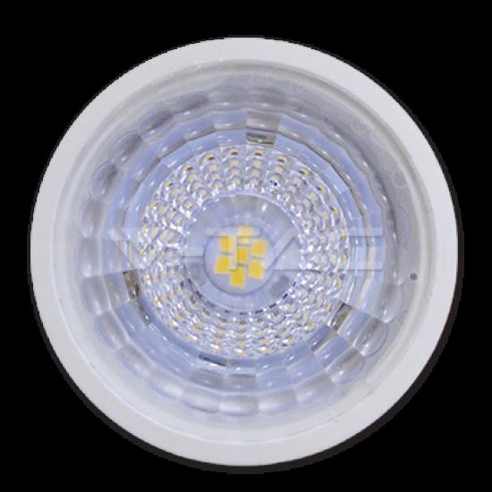 LED Крушка 7W GU10 Пластик С Лупа 110° 4500K