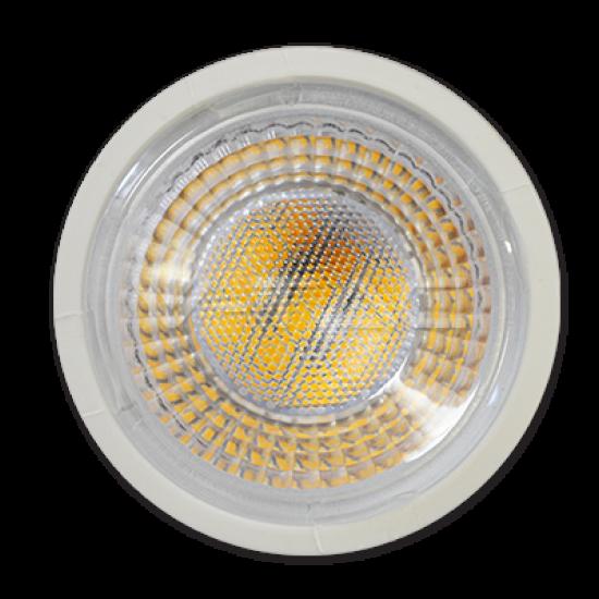 LED Крушка 8W GU10 Пластик С Лупа 38° 3000K