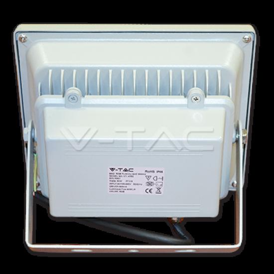 30W LED Прожектор SMD RGB C RF Дистанционно SMD Сиво Тяло