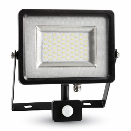 30W LED Прожектор Сензор SMD Черно Тяло 6000K