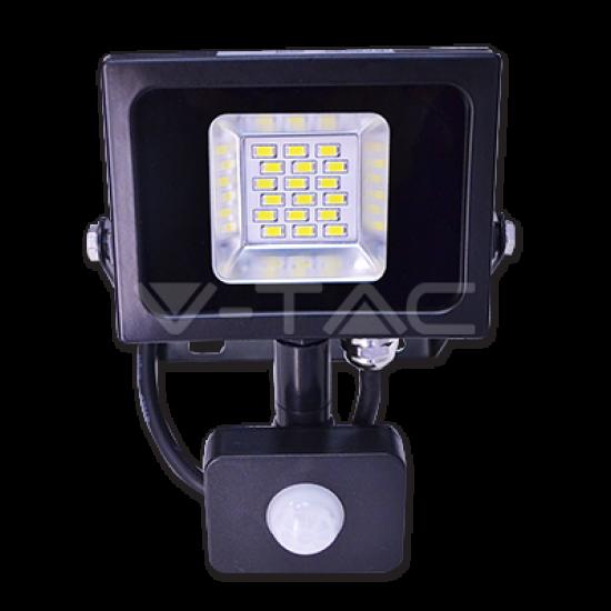 10W LED Прожектор Със Сензор SMD Черно Тяло 6000K