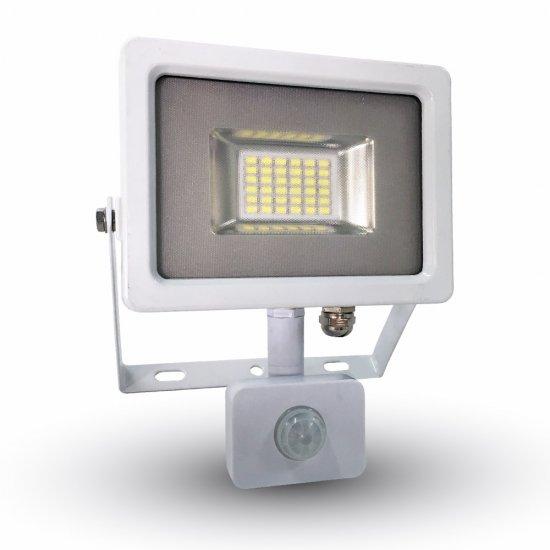 20W LED Прожектор Със Сензор SMD Бяло Тяло 3000K