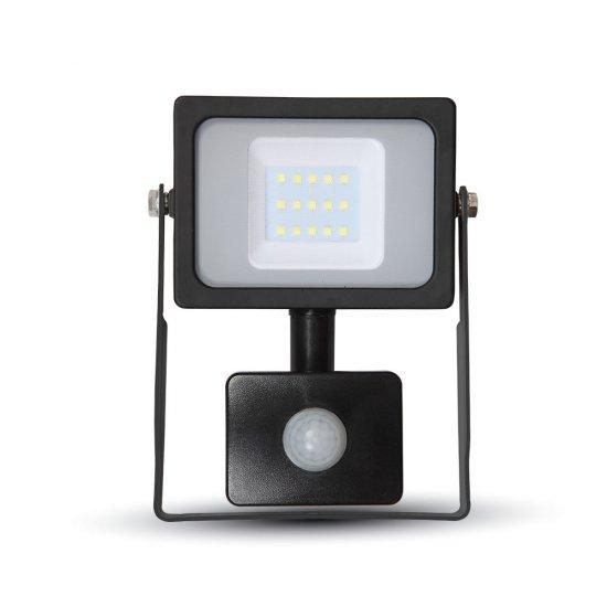 10W LED Прожектор Със Сензор SMD Черно Тяло 6400K