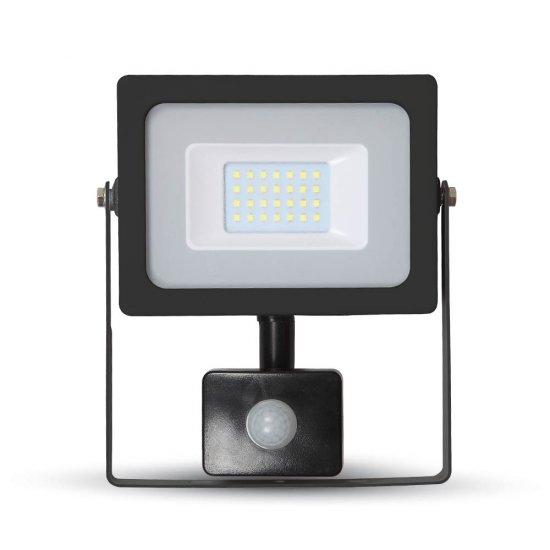 20W LED Прожектор Със Сензор SMD Черно Тяло 4000K