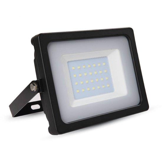 30W LED Прожектор SMD Черно Тяло 6400K