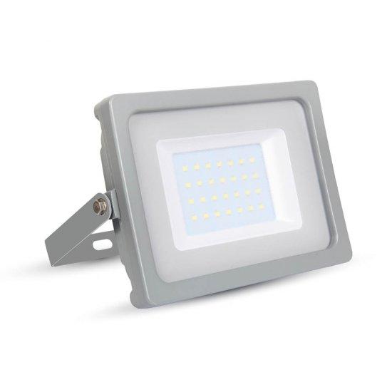 30W LED Прожектор SMD Сиво Тяло 3000K