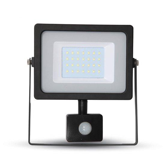 30W LED Прожектор Сензор SMD Черно Тяло 3000K