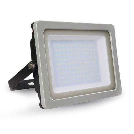 100W LED Прожектор SLIM Черно/Сиво Тяло SMD 4000K