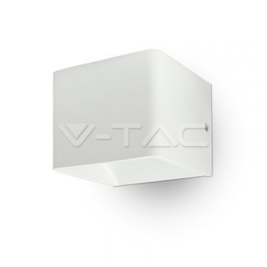 6W Аплик Bridglux Chip Бяло Тяло Квадрат IP65 4000K
