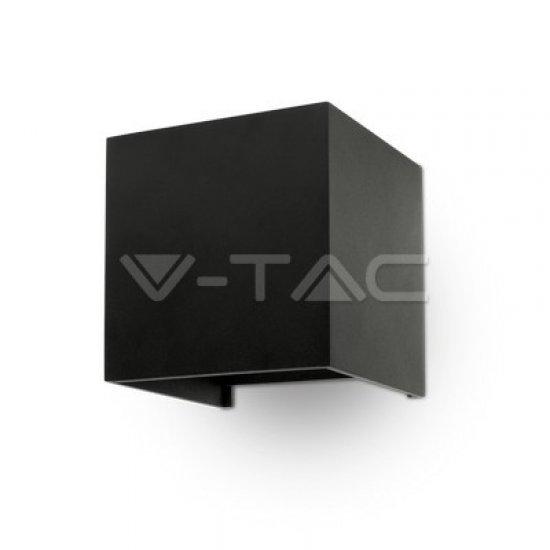 6W Аплик Bridglux Chip Черен Тяло Квадрат IP65 3000K