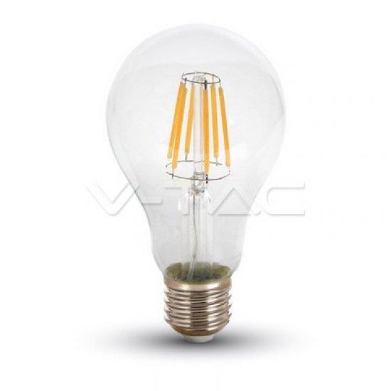 LED Крушка 10W E27 A67 Filament Прозрачна 4500K