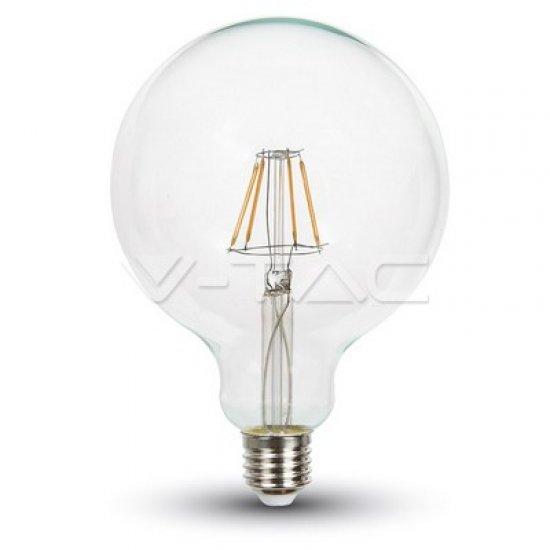 LED Крушка 4W Filament E27 G125 Глобус Прозрачна 2700K Димируема